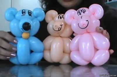 Делаем игрушки из воздушных шаров  смотреть обучающее видео